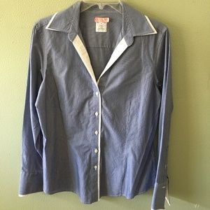 brooks brothers 346 pinstipe button down shirt